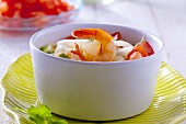 Prawn and vegetable soup with rice noodles (China)