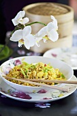 Singapore noodles (Fried noodles with stir-fried vegetables, China)
