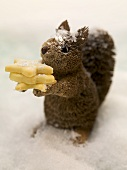 Squirrel with Christmas biscuits