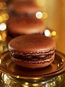 Chocolate Luxemburgerli (type of macaron)