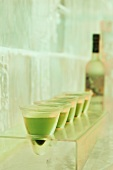 Vodka and basil drink