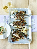Sea bream with almonds