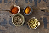 Ingredients for curry powder