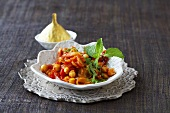 Chick-pea and tomato curry