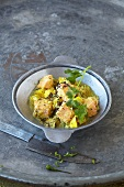 Fish curry with mango and coconut