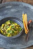 Green pork curry with pork fillet