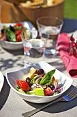 Panzanella (Bread salad with basil, Italy)