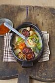 Spanish bean stew with chorizo