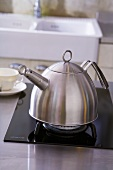 Kettle on gas cooker