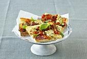Arichoke and salami pizza