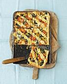 Tray-baked chard tart
