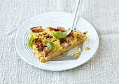 Italian-style potato tart with mortadella