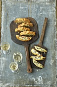 Potato and cheese strudel and ricotta roll