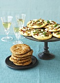 Oyster mushroom pizzette and Provencal flatbread
