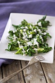 Broccoli with anchovy cream sauce
