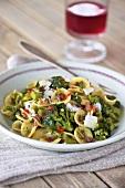 Orecchiette with broccoli, pancetta and Parmesan