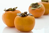 Several persimmons