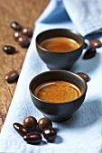 Espresso und Schokobonbons