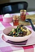 Lamb tajine with vanilla and couscous