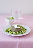 Gently cooked beef fillet with cucumber and mint salsa