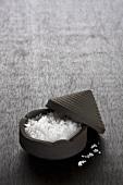 Fleur de sel in small bowl