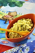 Courgette puree with bulgur