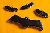 Several bat biscuits for Halloween