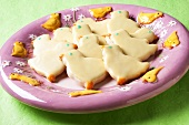 Easter chick biscuits on plate