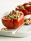 Beefsteak tomatoes with tuna and bean stuffing