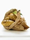 Potatoes in paper bag