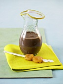 Chocolate and apricot drink