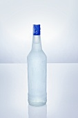 Vodka in icy bottle