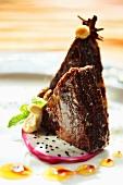 Brownies on pitahaya