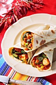 Chicken and vegetable wraps (Mexico)