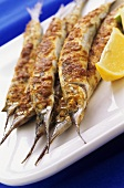 Deep-fried garfish with lemon