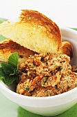 Chilli dip with toast (Turkey)