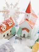 Cardboard Christmas village