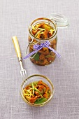 Chanterelles preserved in olive oil