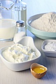 Baking ingredients (quark, egg, flour etc.)