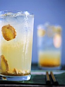 Cocktail with liqueur and ginger
