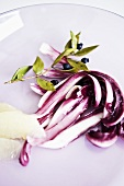 Monk fish fillet with radicchio