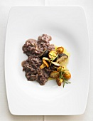 Red wine risotto with forest mushrooms