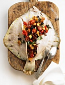 Turbot with vegetable stuffing
