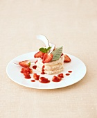 Strawberry and coconut tower
