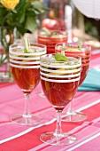Pomegranate drink with lemon grass