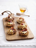 Sweet potato rostis with bacon and crème fraîche