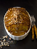 Pumpkin bread and butter pudding