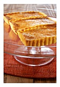 South African milk tart with mandarin liqueur