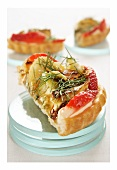 Sweet fennel and strawberry tart