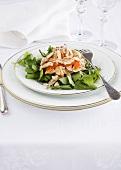 Coronation chicken (chicken salad, UK) on watercress